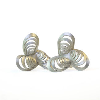 Ripples Pinwheel Satin Finish Earrings