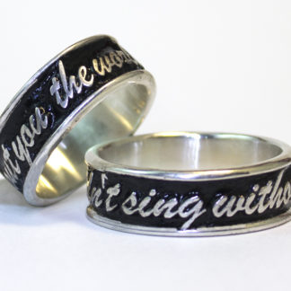 Raised letters Custom Word Rings