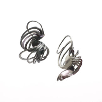 Medium double Clamshell earrings